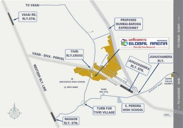 Unicorn Global Arena Location Plan