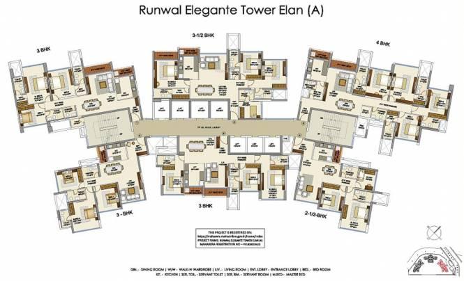 Images for Cluster Plan of Runwal Elegante Tower A