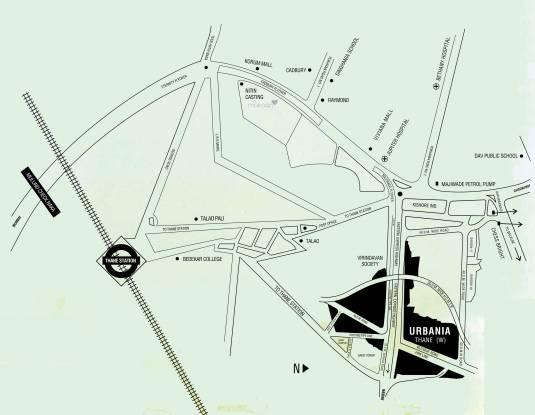 Rustomjee Urbania Azziano Wing K Location Plan