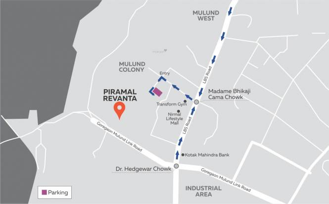 Piramal Revanta Tower 2 Location Plan