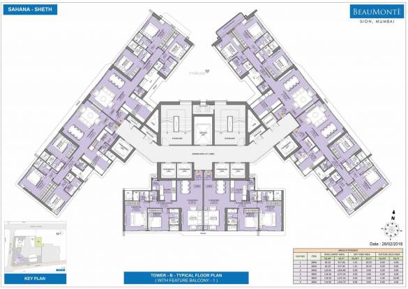 Sheth Beaumonte Tower B Phase 1 Building No 10 Cluster Plan