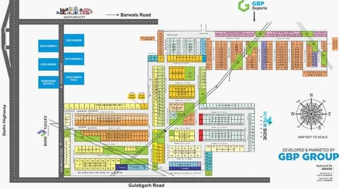 GBP Rose Valley Estate Layout Plan
