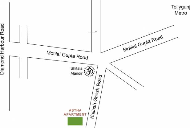RR Astha Apartment Location Plan