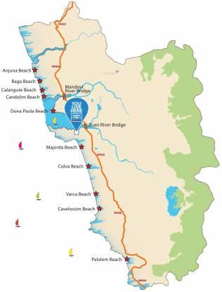 Provident Adora De Goa 2 Park Residences Around The Blu Location Plan
