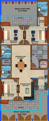 Basera Elite Floors Cluster Plan