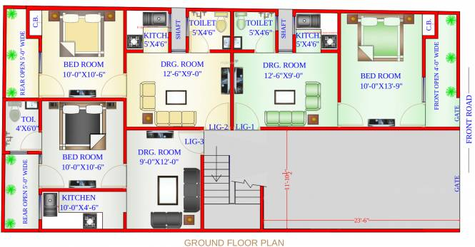 Vishal Apartments Cluster Plan