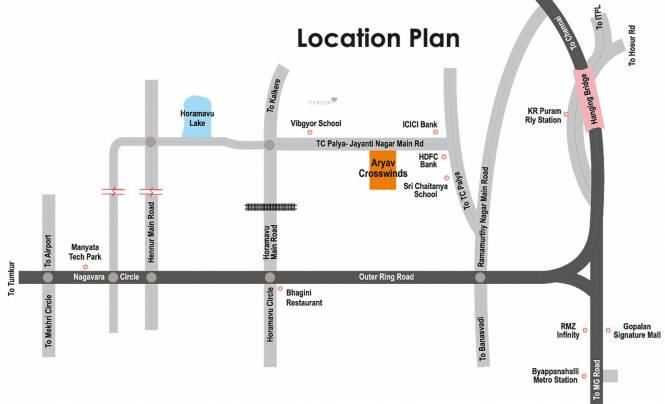 Aryav Crosswinds Location Plan