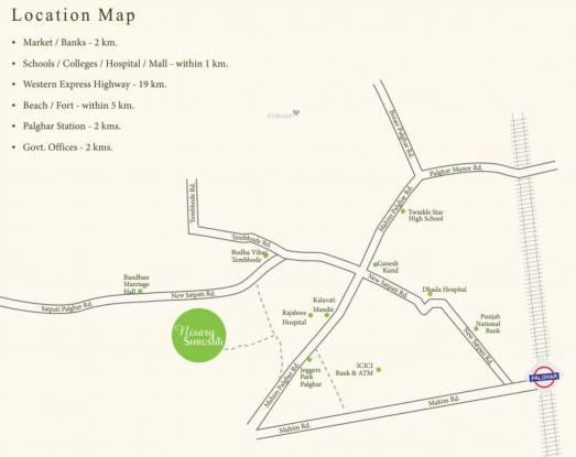 Arvel Nisarg Shrushti Phase 1 Location Plan