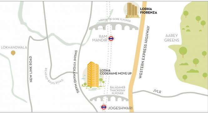 Lodha Codename Move Up Location Plan