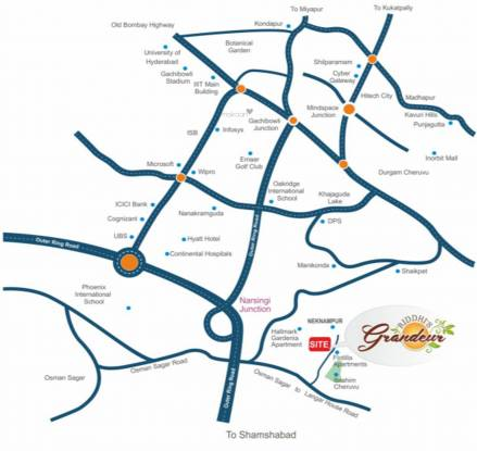 Riddhi Grandeur Location Plan