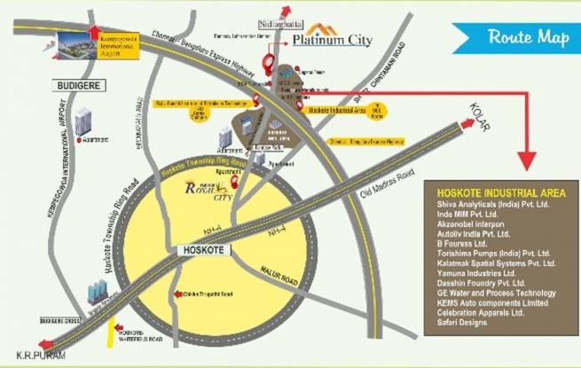 Ridhi Platinum City Location Plan