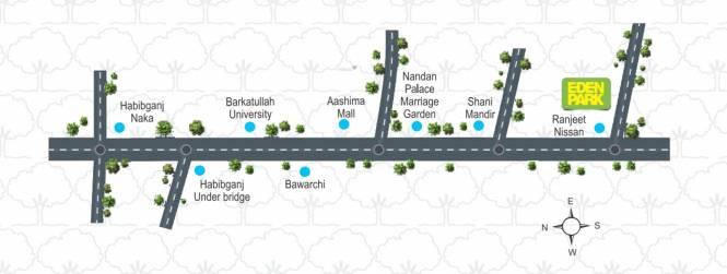 Raksha Eden Park Location Plan