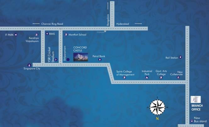 Vinyaas Concord Castle Location Plan