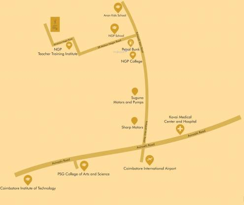 Sakthi Arum Lily Apartment Location Plan