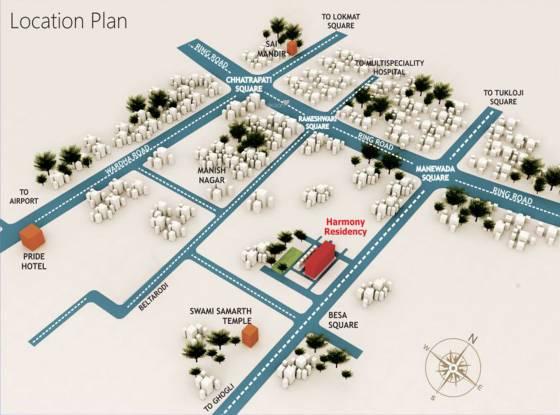 Fakhri Harmony Residency C D Location Plan