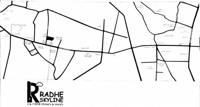 Sagar Radhe Skyline Location Plan