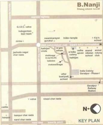 Nanji India Colony Block A Geratpur Location Plan