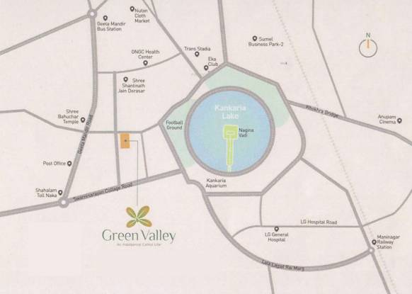 Aastha Green Valley Location Plan