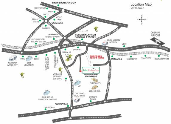 Isha Anandham Location Plan