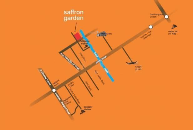 A And A Saffron Garden Location Plan