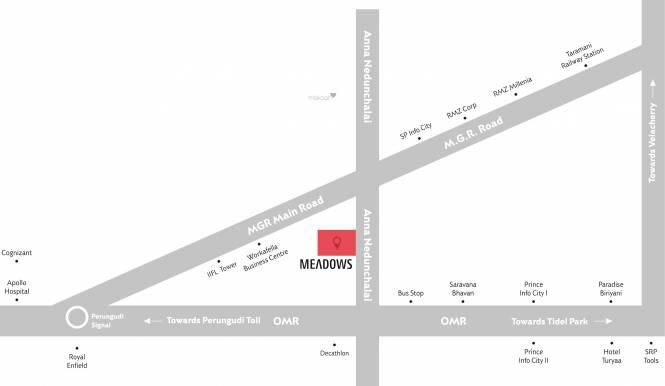 Krishna Meadows Location Plan