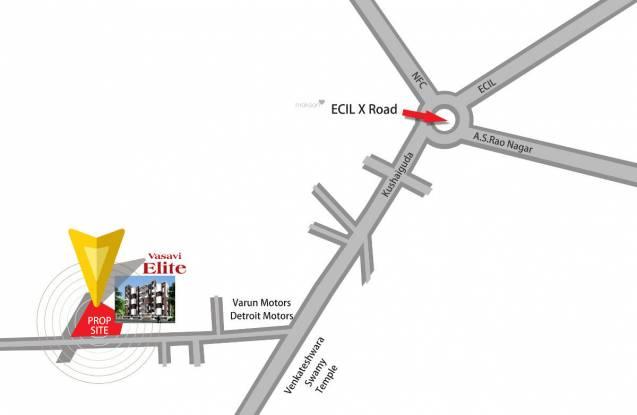 Vasavi Elite Location Plan