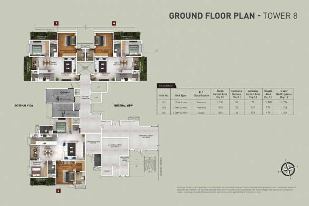 zenium Tower 8 Cluster Plan for Ground Floor