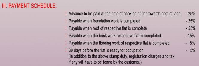 RKN Radhakrishna Payment Plan