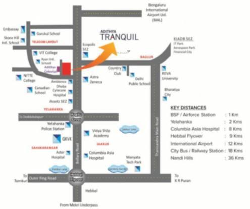 Adithya Tranquil Location Plan
