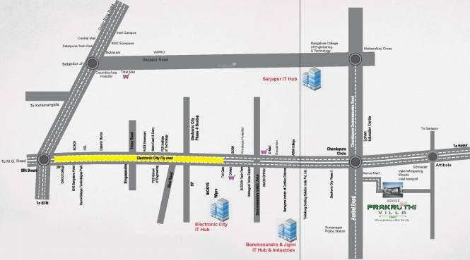 Abhee Prakruthi Villa Location Plan