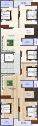 ARE Uttam Nagar Floors Cluster Plan
