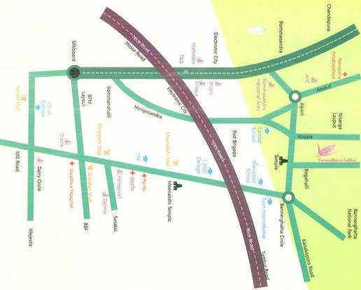 Royaal Vasundhara Enklev Location Plan