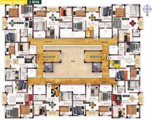 Hansa Gems Park Cluster Plan
