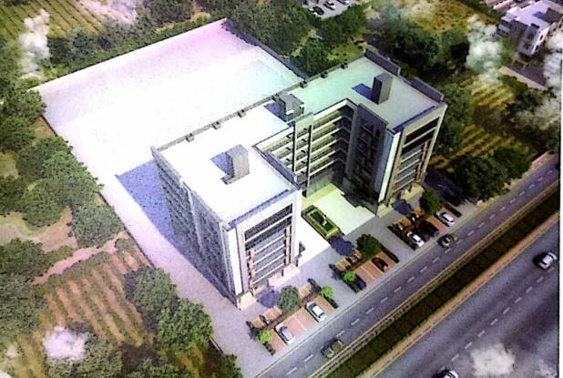 Om Sahitya Business park Elevation