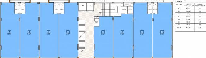 Safal Sky City Arcade Cluster Plan