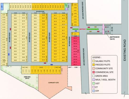 Amolik Residency Layout Plan