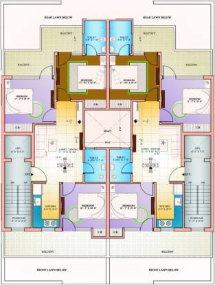 Amolik Residency Apartment Cluster Plan