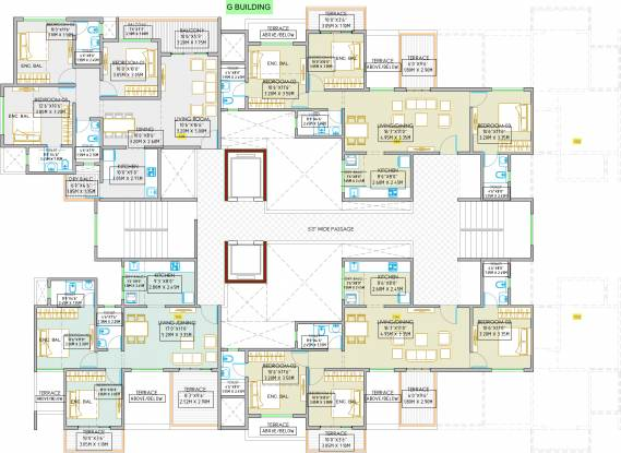 Shree Sonigara Signature Park G And H Building Cluster Plan