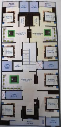 Shree Radhe Krishana SRK Affordables And Luxury Homes Cluster Plan