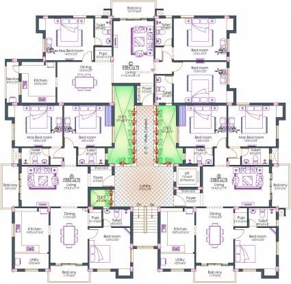 Pushkar Harrington Residences Cluster Plan
