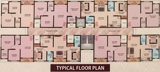 Bhav Residency Cluster Plan