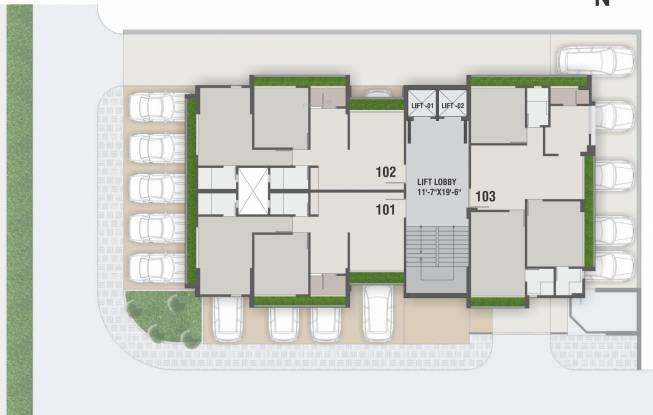Nilkanth Heights Cluster Plan