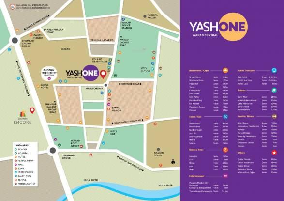 Vilas Javdekar Yashone Wakad Central Location Plan