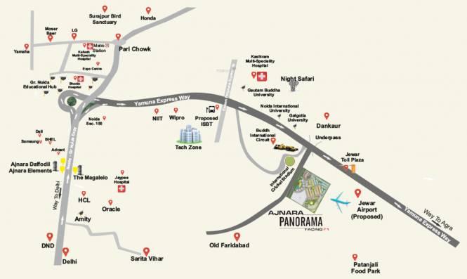 Ajnara Panorama Phase 2 Villas Location Plan
