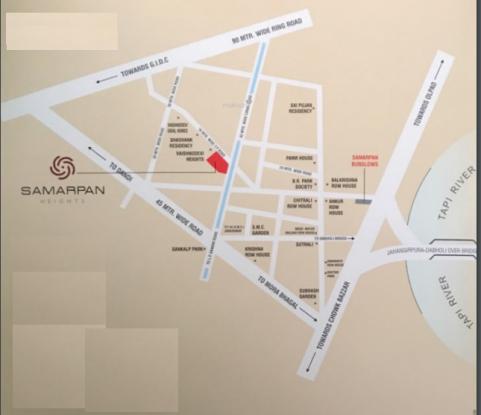 Samarpan Heights Location Plan