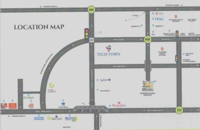 Gupta Tech Town Location Plan