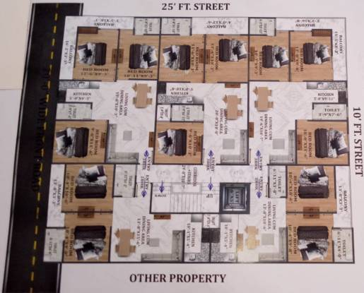 Siddhi Homes Cluster Plan