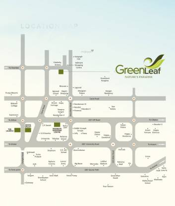 Roongta Green Leaf Location Plan