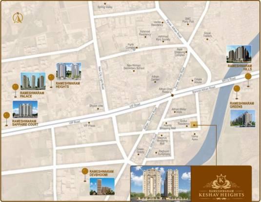 Rameshwaram Keshav Heights Location Plan