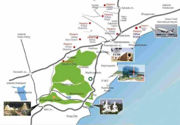 Peram Aditya Lahari II Location Plan